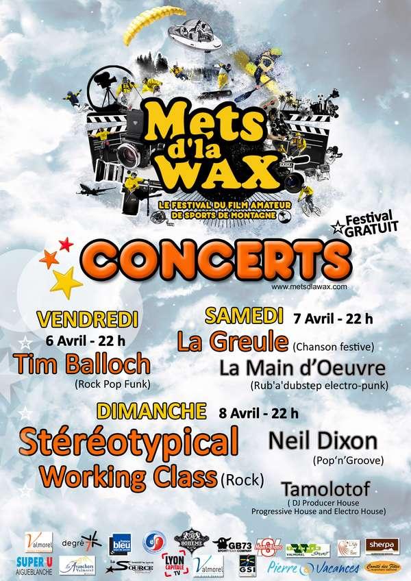 concerts mets d'la wax 2012
